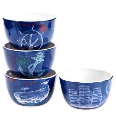 Certified International Pier 45 Ice Cream Bowl Set (Set of 4)
