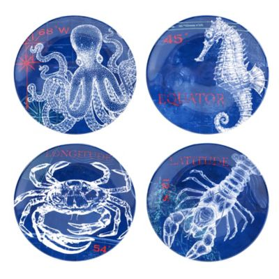 Certified International Pier 45 Salad Plate Set (Set of 4)