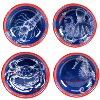 Certified International Pier 45 Pasta/Soup Bowl Set (Set of 4)