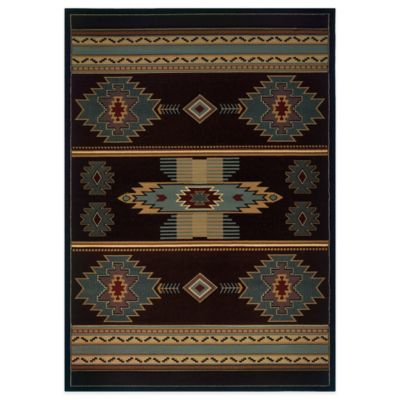 United Weavers Native Canvas 7-Foot 10-Inch x 10-Foot 6-Inch Area Rug in Blue