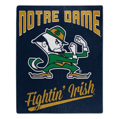 University of Notre Dame Plush Raschel Throw Blanket