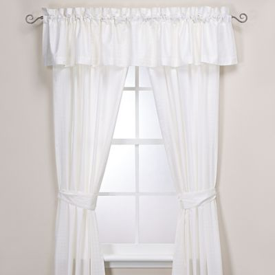 Manor Hill® Ellis Window Valance in Ivory