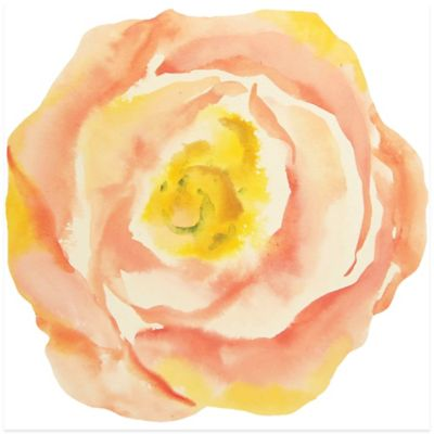 Peach Bloom Canvas Wall Art