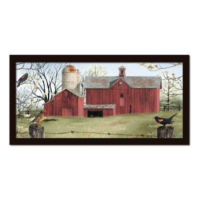 Country Red Canvas Wall Art