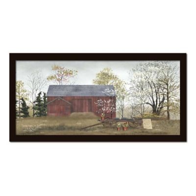 Country House and Barn Canvas Wall Art