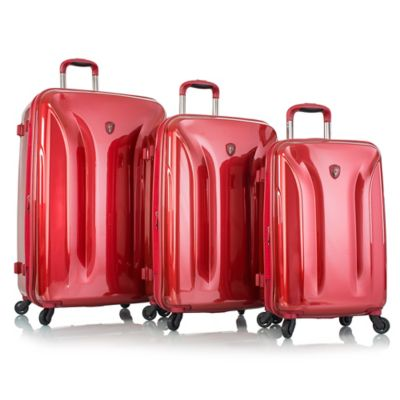 Heys® Astra Deep Space 3-Piece Expandable Spinner Set in Burgundy