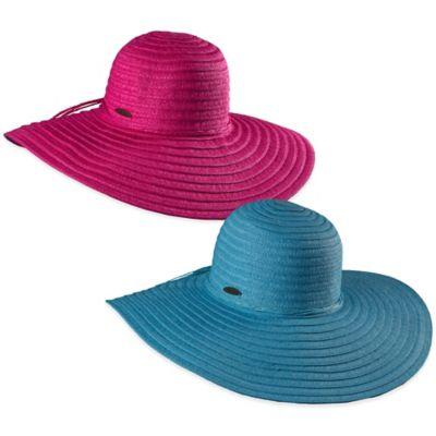 Panama Jack® Paper Braid Sun Hat in Fuchsia