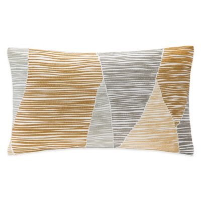 INK+IVY Bengal Embroidered Oblong Throw Pillow in Yellow