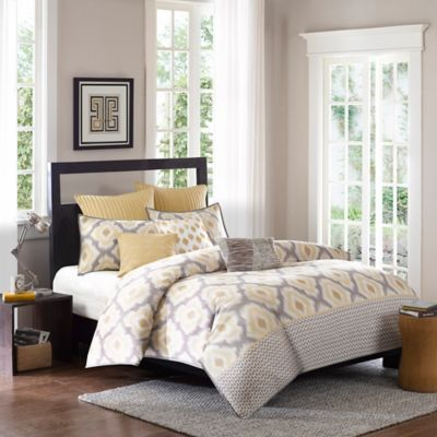 INK+IVY Ankara Full/Queen Comforter Set in in Neutral