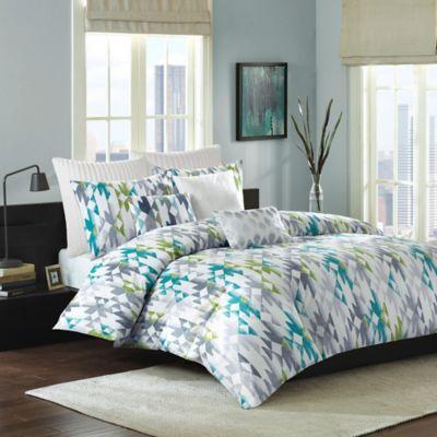 INK+IVY Sierra King Comforter Set in Green