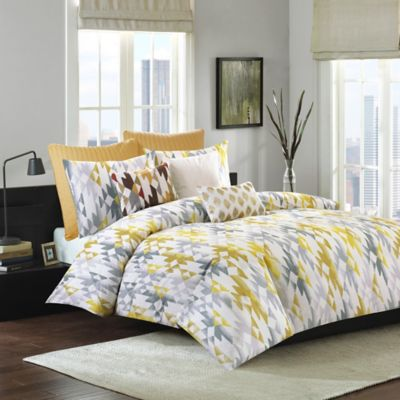 Ink + Ivy Sierra Full/Queen Duvet Cover Set in Yellow