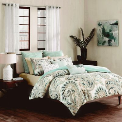 Ink + Ivy Mira Full/Queen Duvet Cover Set in Blue