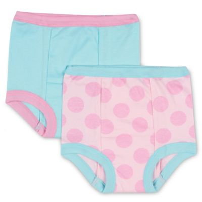 Gerber Girl 2-Pack Size 18M Cloth Training Pants in Pink