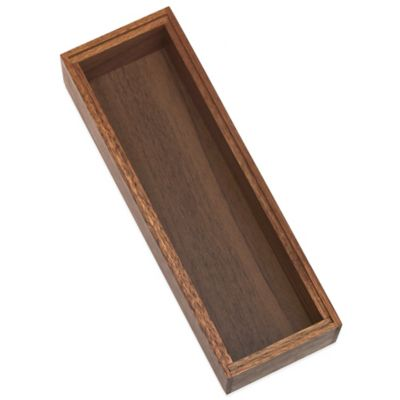 Lipper Acacia Wood Stackable 3-Inch x 9-Inch Organizer Box