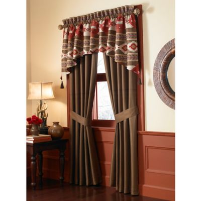 Cheyenne Pole Top 84-Inch Window Panel Pair in Brown