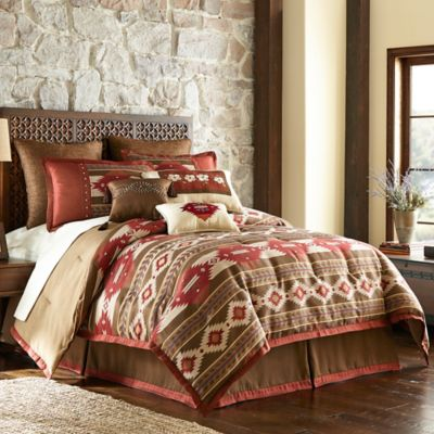 Cheyenne Full Comforter Set in Brown