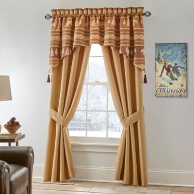 Crescent Lodge 84-Inch Window Valance in Burgundy