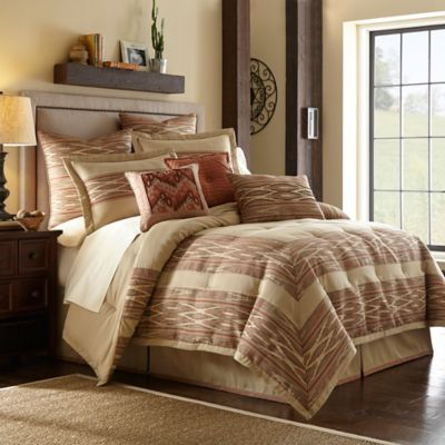 Desert Ridge California King Comforter Set in Terracotta