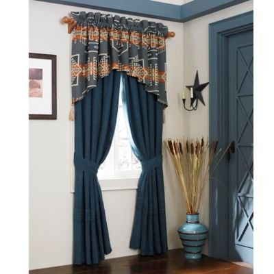 Rio Grande 84-Inch Tailored Window Valance in Blue