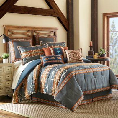 Rio Grande Full Comforter Set in Blue