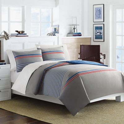 Nautica® Dax Queen Comforter Set in Grey