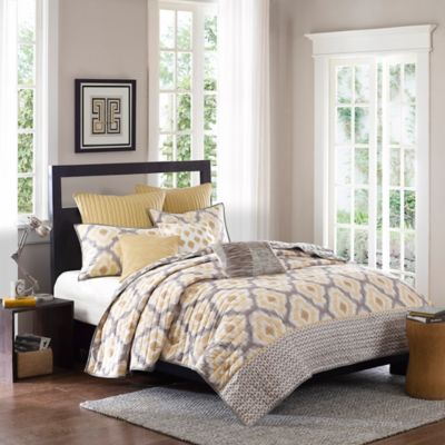 Ink + Ivy Ankara King Coverlet Set in Neutral