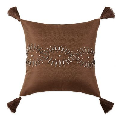 Cheyenne Square Throw Pillow in Brown