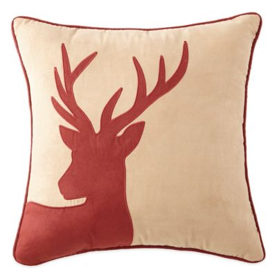Crescent Lodge Buck Square Throw Pillow