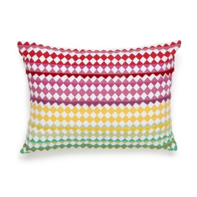 Collier Campbell English Bloom Geometric Oblong Throw Pillow in Multi