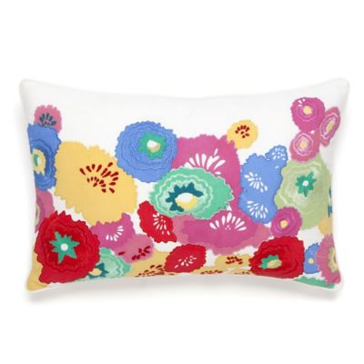 English Bloom Oblong Throw Pillow in Multi