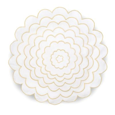 Collier Campbell English Bloom Round Throw Pillow in White
