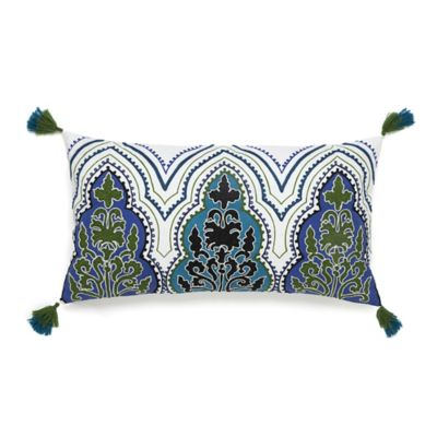 Collier Campbell Pondicherry Embroidered Tassel Oblong Throw Pillow