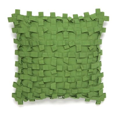 Collier Campbell Pondicherry Textured Square Throw Pillow in Green
