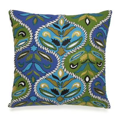 Collier Campbell Pondicherry Embroidered Ogee Square Throw Pillow