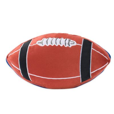 ZipIt Bedding® Football-Shaped Throw Pillow in Brown