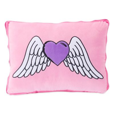 ZipIt Bedding® Rocker Heart Oblong Throw Pillow in Pink