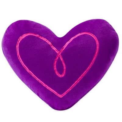 ZipIt Bedding® Heart-Shaped Throw Pillow in Purple