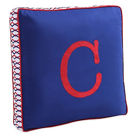 Letter Square Throw Pillow in Blue - Bed Bath & Beyond