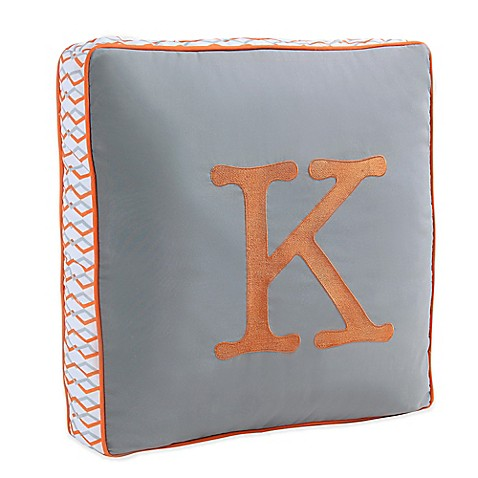 Buy Letter Square Throw Pillow in Grey from Bed Bath & Beyond