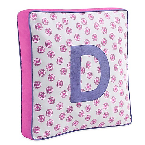 Throw Pillows With Letters : Letter Square Throw Pillow in Pink - Bed Bath & Beyond