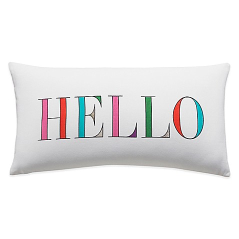 Throw Pillows One Kings Lane : Buy kate spade new york Hello Oblong Throw Pillow in Multi from Bed Bath & Beyond