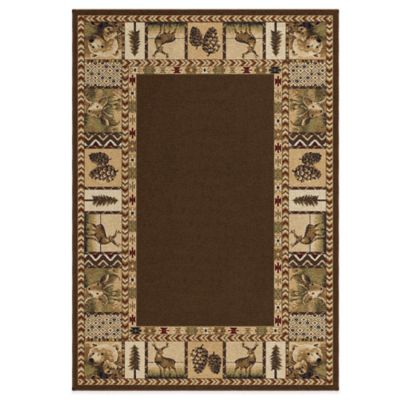 Orian Oxford 5-Foot 3-Inch x 7-Foot 6-Inch High Country Rug in Green