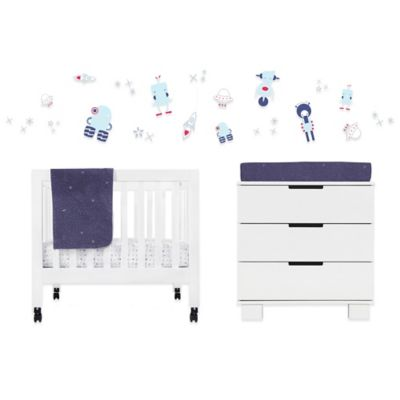Crib Bedding Sets > Babyletto Galaxy 4-Piece Mini Crib Bedding Set