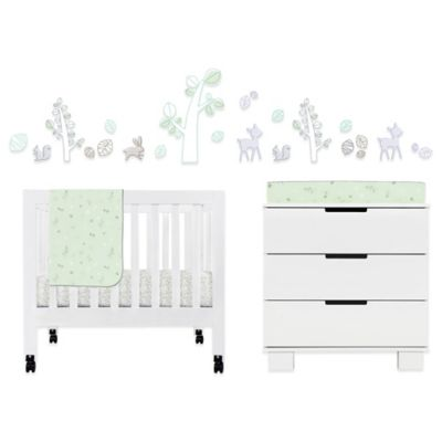 Babyletto Tranquil Woods 4-Piece Mini Crib Bedding Set