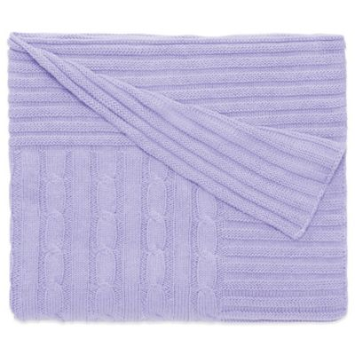 Elegant Baby® Classic Cable Knit Blanket in Lavender