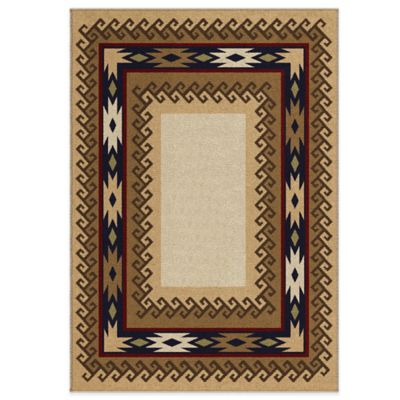 Orian Durango Parchment 5-Foot 3-Inch x 7-Foot 6-Inch Rug