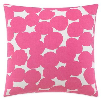 kate spade new york Random Dot Square Throw Pillow in Pink
