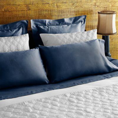 Frette At Home Tiber Standard Pillowcase in Aviator