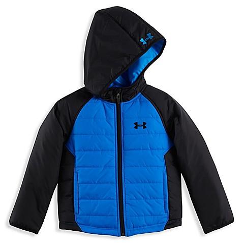 Under Armour 174 Puffer Jacket In Blue Black Www
