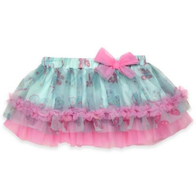 Baby Starters® Size 9M Butterfly Tutu Skirt in Turquoise/Pink